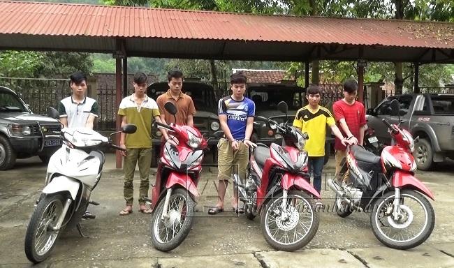 Nhóm đối tượng nhí chuyên trộm cắp xe mô tô bị Công an huyện Pác Nặm bắt giữ