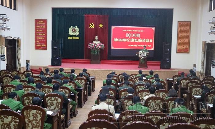 Đảng ủy Công an tỉnh tổ chức Hội nghị triển khai công tác kiểm tra, giám sát năm 2020